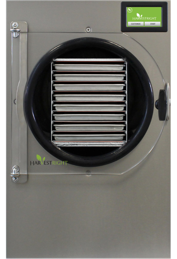 Commercial freeze dryer front